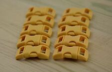 """10 X 3/8"""" 10mm Plastic Contoured Curved Buckles paracord Bracelets - Wheat"""