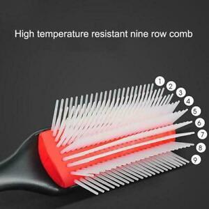 Denman Cushion Brush Nylon Bristle 9-Row Detangle Salon ِProduct Curly Hair