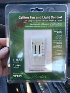 Hunter Ceiling Fan and Light Control 27182 New In Package