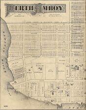 Perth Amboy NJ 1876 Detailed Street Maps with Landowners