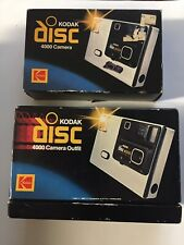Lot of 2 Vintage Kodak Disc 400 Film Cameras in Original Boxes