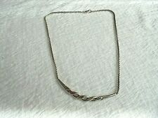 925 WEST GERMANY A C  PENDANT AND FIXED CHAIN NECKLACE  11.9 GRAMMES
