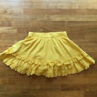 Hanna Andersson Skort Scooter Skirt Ruffled Yellow Girls Sz 110 5 Shorts HOLE