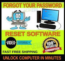UNLOCK COMPUTER RESET ADMIN PASSWORD BOOT SOFTWARE For Windows W/Vid Tutorial CD
