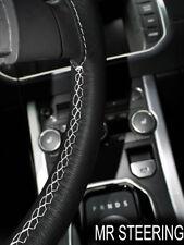 Para Toyota Tacoma MK2 05-11 Cubierta del Volante Cuero Negro Blanco Doble STCH