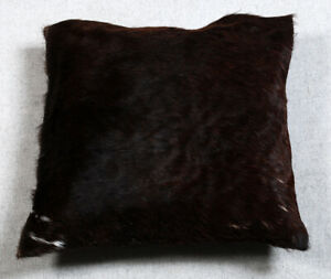 NEW COW HIDE LEATHER CUSHION COVER RUG COW SKIN Cushion Pillow Covers C-5288