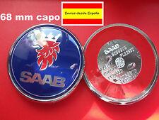 Saab 9-5 9-3 Front Hood capo Emblema insignia Logo 68MM SCANIA tapas 93 95