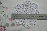 CROCHET DOILIES - COTTON - WHITE - Round 14 cm across Each CE