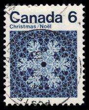 "CANADA 554 - Christmas Snowflake ""Hibrite Paper"" (pf83674)"