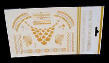 Tatuaggi Temporanei Donna Metallici Oro/Argento Metallic Temporary Tattoos