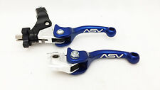 ASV F3 Unbreakabl​​e Adjustable Shorty Blue Brake Clutch Levers Pair Pack DRZ400