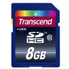 Transcend 8GB SD SDHC Class 10 Flash Memory Card 8 GB - TS8GSDHC10