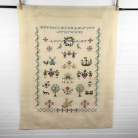 """Finished Completed Cross Stitch Sampler 18"""" x 24""""  By Plum Street Samplers?"""