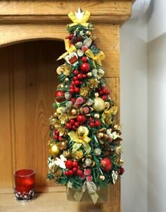 Christmas Tree Red handmade wall hanging decoration