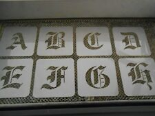 Old English 3 inch stencil set!