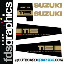 Suzuki DT115EFI outboard engine decals/sticker kit