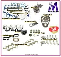 Rod Bearings Gkts Chevy 235 6 Cyl 1959-62 ENGINE REBUILD OVERHAUL KIT Rings