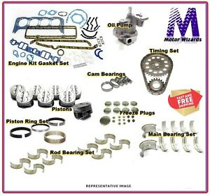 Chevy GMC Trk 305 5.0 85-86 ENGINE REBUILD KIT Rings Main+Rod Brgs OPump Pistons