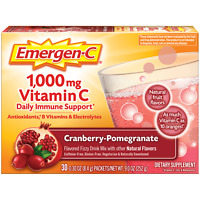 Original Formula Emergen-C, Alacer, 30 packet Raspberry 1000mg Vitamin C 1 Pack
