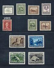 ECUADOR - GALAPAGOS IS. _ 1936-57 'VARIOUS' 11 _ mh-used ____(642)
