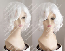 Top Women Fashion Short White Pear Head Fluffy Curly Cosplay Party Heat Full Wig