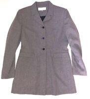 Pret a Porter Womens 8 Vintage 90s Blazer Jacket Long Length Gray 3 Button