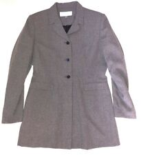 PRET A PORTER Women's 8 M Gray Vintage 90's Long Blazer Career Jacket Work i1
