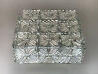 60er 70er Jahre Lampe Leuchte Plafoniere Flush Mount Ice Glas Space Age Design