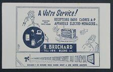 Buvard BROCHARD Bléré récepteur radio TSF entrée gratuite cinéma Blotter
