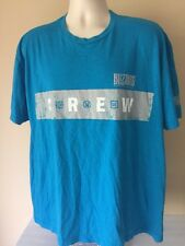 Blizzard Entertainment Crew Men's T-Shirt World of Warcraft Diablo Aqua Blue XL