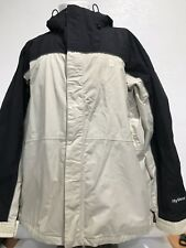 Men's THE NORTH FACE HyVent Hooded Beige Blk Jacket Ski Snow HyVent XL Winter