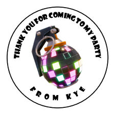 Teenager Grenade Bomb Personalised Thank You Sticker Party Sweet Cone Birthday