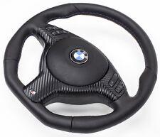 TUNING spianate VOLANTE IN PELLE BMW e46 VOLANTE CON PANNELLO FRONTALE MULTI radio. e airbag