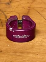 OEM GT Stamped Candy Purple Seat Post Clamp Old School Freestyle BMX Dyno