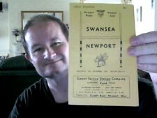OFFICIAL PROGRAMME SWANSEA V NEWPORT  26.09.1959 RUGBY PERFECT  CHRISTMAS GIFT!