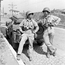 WWII Photo US Press Photographers near Rome Italy World War Two WW2 B&W / 1323