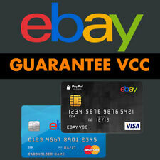 VCC for EBAY Seller - verification Virtual Credit Card for EBAY INSTANT DELIVERY