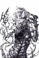 Symbiote Spider-Man #1 (RARE Carnage Queen Sketch Variant Cover, Marvel Comics)