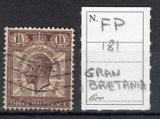 GREAT BRITAIN - STAMP 1,5 d. (n.181) PERFIN FP , USED