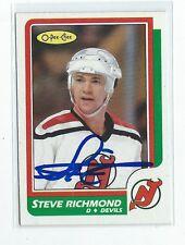 Steve Richmond Signed 1986/87 O-Pee-Chee Card #208