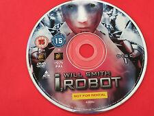 I Robot  DVD Will Smith, Bridget Moynahan, Bruce Greenwood no case Region 2 PAL