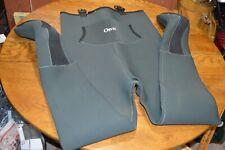 ORVIS Mens Neoprene Rubber/Nylon Waders- Olive Green Large With Feet