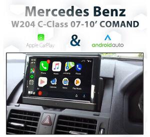 Mercedes Benz W204 C-Class 2007-2010 COMAND Apple CarPlay Android Auto retrofit