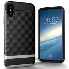 Apple iPhone X / XS Hülle Case Handy Cover Schutz Tasche Schutzhülle Etui Silber