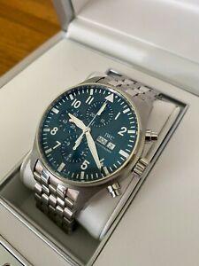 IWC Chronograph IW3777-17 43mm Le Petit Prince Pilot Watch Stainless Bracelet