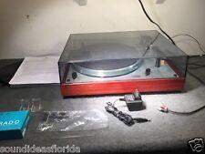 Thorens TD 166 MK II turntable w/ dustcover, cartridge, 33 & 45 platter mats