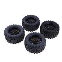 "4pcs 103mm Rubber Tires w/ 1.9"" Replace Wheel Rim for 1/10 RC Crawler Car C"
