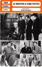 FICHE CINEMA : LE MOUTON A CINQ PATTES - Fernandel,Arnoul,Andrex,Verneuil 1954