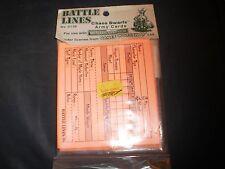 WARHAMMER FANTASY GAMES WORKSHOP BATTLE LINES 1994 CHAOS DWARF ARMY CARDS