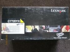 Genuine Lexmark C772 X772e Extra High Yield YELLOW Toner Print Cartridge C7720YX